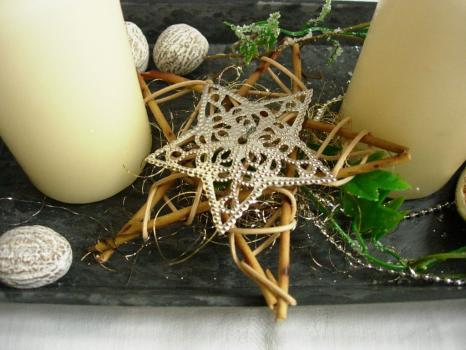 Adventkranz Adventgesteck Tischdeko Weihnachten Gesteck